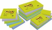 3M Post-it 654-MT Neon zöld szívárványcsomag - vegyes neon zöld színben - 6 tömb / csomag (3M 654-MT)