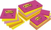 3M Post-it 654-TF Neon pink szívárványcsomag - vegyes neon pink színben - 6 tömb / csomag (3M 654-TF)