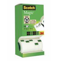 3M Scotch Magic Tape 8-1933R14TPR irodai ragasztószalag akciós kiszerelés - 19 mm x 33 méter, kiszerelés: 14 tekercs / doboz (3M 8-1933R14TPR)