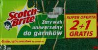 3M Scotch-Brite lapos mosogatószivacs hagyományos dörzsfelülettel - kiszerelés: 3 darab / csomag (3M CEE15)