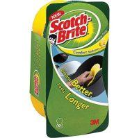 3M Scotch-Brite piskóta alakú kézkímélő mosogatószivacs hagyományos dörzsfelülettel - kiszerelés: 1 darab / csomag (3M CEE18)