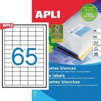 APLI öntapadó etikett címke Ref. 01209 - 38,1 x 21,2 mm 5 pályás univerzális öntapadó etikett címke (Ref. 01209, LCA1209)