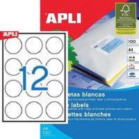 APLI öntapadó etikett címke Ref. 01244 - 60 mm átmérőjű 3 pályás univerzális kör alakú etikett címke (Ref. 01244, LCA1244)