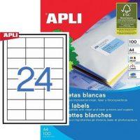 APLI öntapadó etikett címke Ref. 01263 - 64,6 x 33,8 mm 3 pályás univerzális öntapadó etikett címke (Ref. 01263, LCA3131)