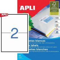 APLI öntapadó etikett címke Ref. 01264 - 210 x 148 mm 1 pályás univerzális öntapadó etikett címke (Ref. 01264, LCA1264)