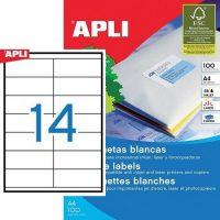 APLI öntapadó etikett címke Ref. 01275 - 105 x 40 mm 2 pályás univerzális öntapadó etikett címke (Ref. 01275, LCA3138)