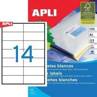APLI öntapadó etikett címke Ref. 01277 - 105 x 42,4 mm 2 pályás univerzális öntapadó etikett címke (Ref. 01277, LCA1277)