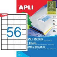APLI öntapadó etikett címke Ref. 01284 - 52,5 x 21,2 mm 4 pályás univerzális öntapadó etikett címke (Ref. 01284, LCA1284)