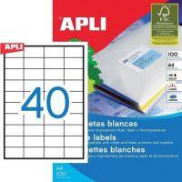 APLI öntapadó etikett címke Ref. 01286 - 52,5 x 29,7 mm 4 pályás univerzális öntapadó etikett címke (Ref. 01286, LCA3130)