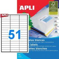 APLI öntapadó etikett címke Ref. 01294 - 70 x 16,9 mm 3 pályás univerzális öntapadó etikett címke (Ref. 01294, LCA1294)