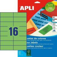 APLI öntapadó etikett címke Ref. 01598 - 105 x 37 mm 2 pályás univerzális zöld öntapadó etikett címke (Ref. 01598, LCA1598)