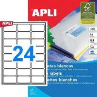 APLI öntapadó etikett címke Ref. 02409 - 64 x 33,9 mm 3 pályás univerzális öntapadó etikett címke (Ref. 02409, LCA2409)