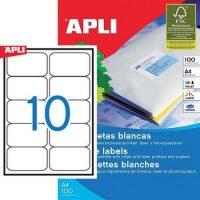APLI öntapadó etikett címke Ref. 02411 - 99,1 x 57 mm 2 pályás univerzális öntapadó etikett címke (Ref. 02411, LCA2411)