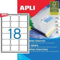APLI öntapadó etikett címke Ref. 02415 - 63,5 x 46,6 mm 3 pályás univerzális öntapadó etikett címke (Ref. 02415, LCA2415)