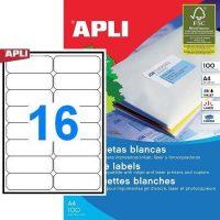 APLI öntapadó etikett címke Ref. 02418 - 99,1 x 34 mm 2 pályás univerzális öntapadó etikett címke (Ref. 02418, LCA2418)