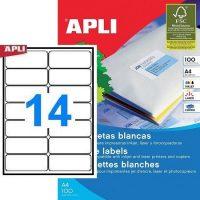 APLI öntapadó etikett címke Ref. 02419 - 99,1 x 38,1 mm 2 pályás univerzális öntapadó etikett címke (Ref. 02419, LCA2419)