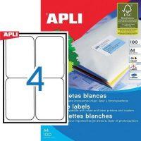 APLI öntapadó etikett címke Ref. 02422 - 99,1 x 139 mm 2 pályás univerzális öntapadó etikett címke (Ref. 02422, LCA2422)