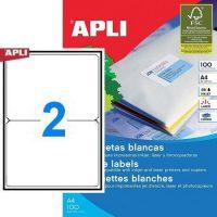 APLI öntapadó etikett címke Ref. 02423 - 199,6 x 144,5 mm 1 pályás univerzális öntapadó etikett címke (Ref. 02423, LCA2423)