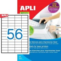 APLI öntapadó etikett címke Ref. 02517 - 52,5 x 21,2 mm 4 pályás öntapadó etikett címke nagysebességű lézernyomtatókhoz (Ref. 02517, LCA2517)