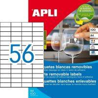 APLI öntapadó etikett címke Ref. 03055 - 52,5 x 21,2 mm 4 pályás univerzális visszaszedhető öntapadó etikett címke (Ref. 03055, LCA03055)