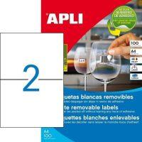APLI öntapadó etikett címke Ref. 03059 - 210 x 148 mm 1 pályás univerzális visszaszedhető öntapadó etikett címke (Ref. 03059, LCA03059)