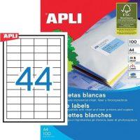 APLI öntapadó etikett címke Ref. 03129 - 48,5 x 25,4 mm 4 pályás univerzális öntapadó etikett címke (Ref. 03129, LCA3129)