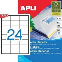 APLI öntapadó etikett címke Ref. 03135 - 70 x 37 mm 3 pályás univerzális öntapadó etikett címke (Ref. 03135, LCA3135)