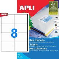 APLI öntapadó etikett címke Ref. 03140 - 105 x 74 mm 2 pályás univerzális öntapadó etikett címke (Ref. 03140, LCA3140)