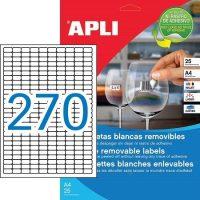 APLI öntapadó etikett címke Ref. 10197 - 17,8 x 10 mm 10 pályás univerzális visszaszedhető öntapadó etikett címke (Ref. 10197, LCA10197)