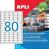 APLI öntapadó etikett címke Ref. 10199 - 35,6 x 16,9 mm 5 pályás univerzális visszaszedhető öntapadó etikett címke (Ref. 10199, LCA10199)