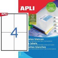 APLI öntapadó etikett címke Ref. 10827 - 105 x 148 mm 2 pályás univerzális öntapadó etikett címke (Ref. 10827, LCA10827)