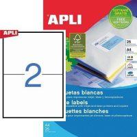 APLI öntapadó etikett címke Ref. 10919 - 210 x 148 mm 1 pályás univerzális öntapadó etikett címke (Ref. 10919, LCA10919)