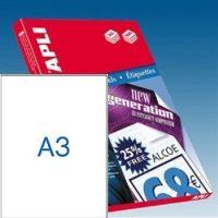 APLI öntapadó etikett címke Ref. 11352 - 297 x 420 mm 1 pályás univerzális öntapadó etikett címke (Ref. 11352, LCA11352)