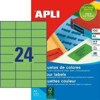 APLI öntapadó etikett címke Ref. 11837 - 70 x 37 mm 3 pályás univerzális zöld öntapadó etikett címke (Ref. 11837, LCA11837)