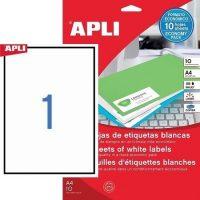 APLI 12917 öntapadós etikett címke
