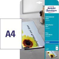 Avery Zweckform No. 2500 öntapadó fólia tintasugaras nyomtatóhoz (vastagság: 0,17 mm, méret: A4, 10 ív / csomag)(Avery 2500)