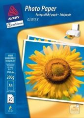 Avery Zweckform No. 25721-20HU A4 méretű fényes 200 g -os egyoldalas tintasugaras fotópapír - kiszerelés: 20 ív / csomag (Avery 25721-20HU)