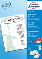 Avery Zweckform No. 2577-150 tintasugaras 210 x 297 mm (A4) méretű, 90 g -os hagyományos matt nagyfelbontású papír - 150 ív / csomag (Avery 2577-150)