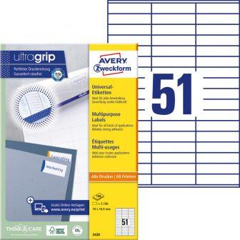 Avery Zweckform 3420 öntapadó etikett címke