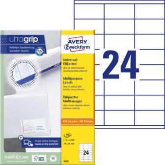Avery Zweckform 3422 öntapadó etikett címke