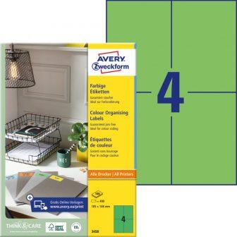 Avery Zweckform 3458 öntapadós etikett címke