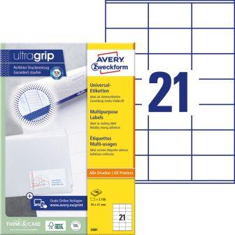 Avery Zweckform 3481 öntapadó etikett címke