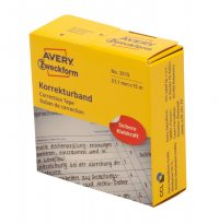 Avery Zweckform No. 3515 tekercses 21,1 mm x 15 méter méretű, kézzel írható fehér öntapadó szalag (Avery 3515)