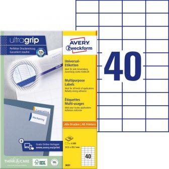 Avery Zweckform 3651 öntapadó etikett címke