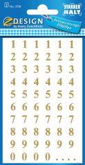 Avery Zweckform Z-Design No. 3728 öntapadó átlátszó számok - arany színben - kiszerelés: 2 ív / csomag (Avery Z-Design 3728)