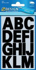 Avery Zweckform Z-Design No. 3784 időjárásálló öntapadó nyomtatott nagybetűk - fekete színben - kiszerelés: 2 ív / csomag (Avery Z-Design 3784)