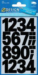 Avery Zweckform Z-Design No. 3785 időjárásálló öntapadó számok - fekete színben - kiszerelés: 2 ív / csomag (Avery Z-Design 3785)