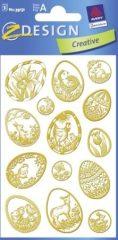 Avery Zweckform Z-Design No. 39151 húsvéti papír matrica - díszes húsvéti tojások motívumokkal - kiszerelés: 3 ív / csomag (Avery Z-Design 39151)