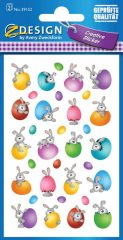 Avery Zweckform Z-Design No. 39152 öntapadó papír matrica - színes húsvéti tojások és nyuszikák motívumokkal - kiszerelés: 2 ív / csomag (Avery Z-Design 39152)