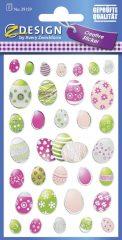 Avery Zweckform Z-Design No. 39159 öntapadó húsvéti fólia matrica - színes húsvéti tojás motívumokkal - kiszerelés: 1 ív / csomag (Avery Z-Design 39159)